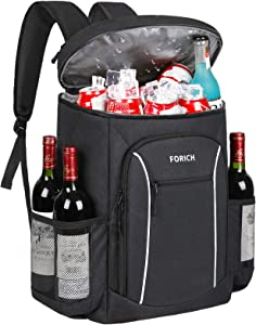 FORICH Cooler Backpack Portable Soft Backpack Coolers Insulated Leak Proof Large Cooler Bag for Men Women to Work Lunch Travel Beach Camping Hiking Picnic Fishing Beer Bottle, 30 Cans