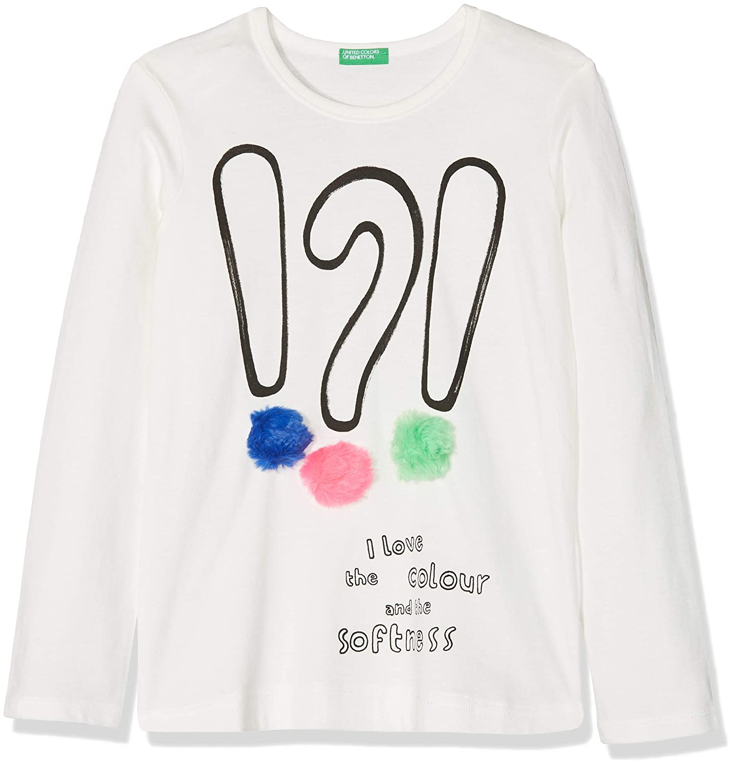 United Colors of Benetton L/S, T-Shirt Bambina 3VR5C13TM