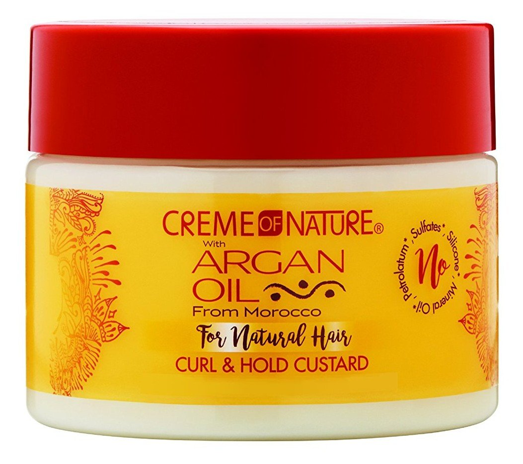 Creme Of Nature Argan Oil Curl & Hold Custard 11.5 Ounce (340ml) (3 Pack)
