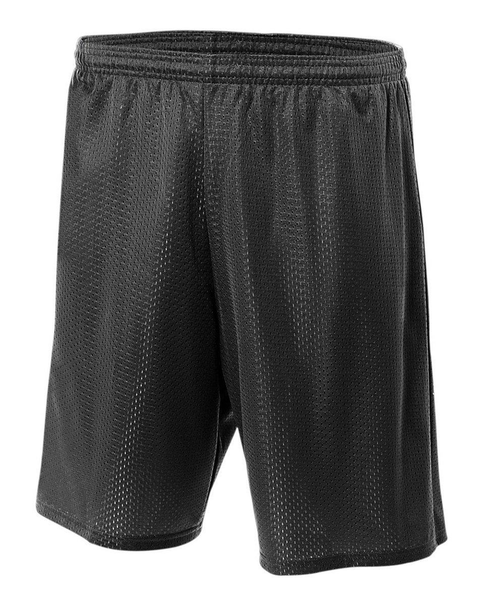A4 NB5301 Lined Tricot Mesh Shorts, Black, XX-Small