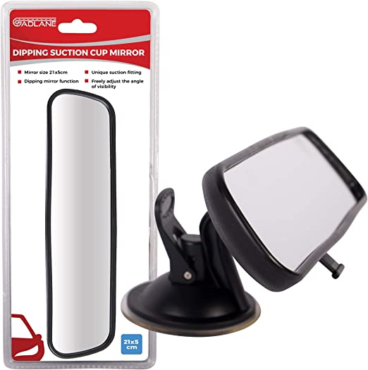 Hot Wide Flat Universal Rear View Mirror Interior Car Adjustable Suction UK