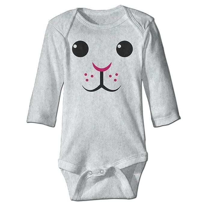 Amazon.com: Conejo de Pascua conejo Face Infant bebé Onesie ...