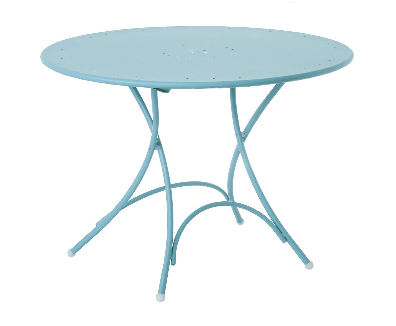 Emu 309043600N Pigalle Klapptisch 904, ø 105 cm, pulverbeschichteter Stahl, himmelblau