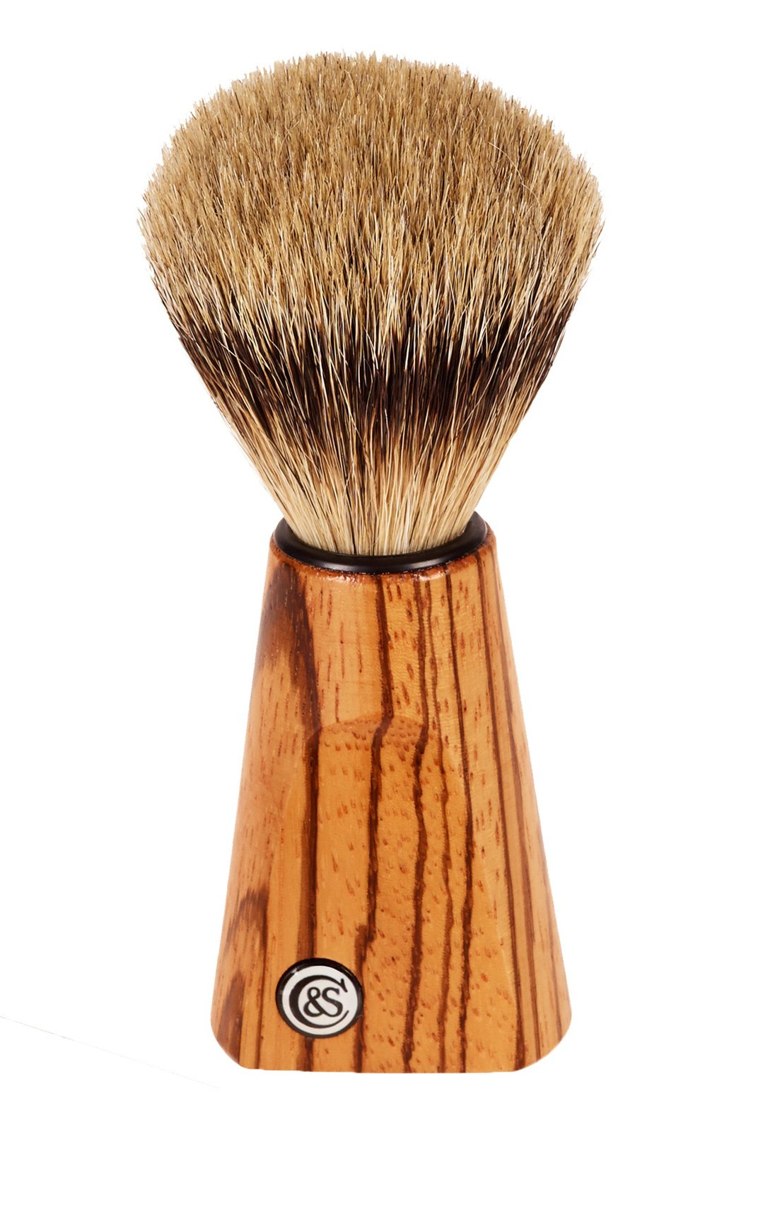 Czech & Speake Luxury Zebrano Wood Silver Tip Badger Shaving Brush by CZECH & SPEAKE