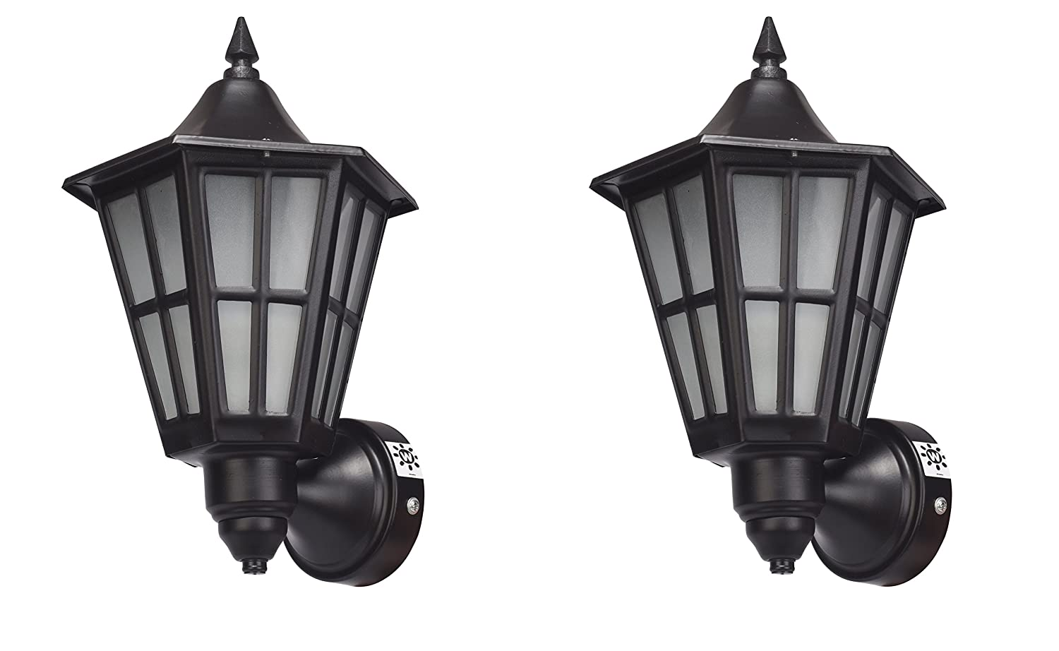 Whiteray Outdoor Purpose Traditional Black Wall Light(Set of 2)