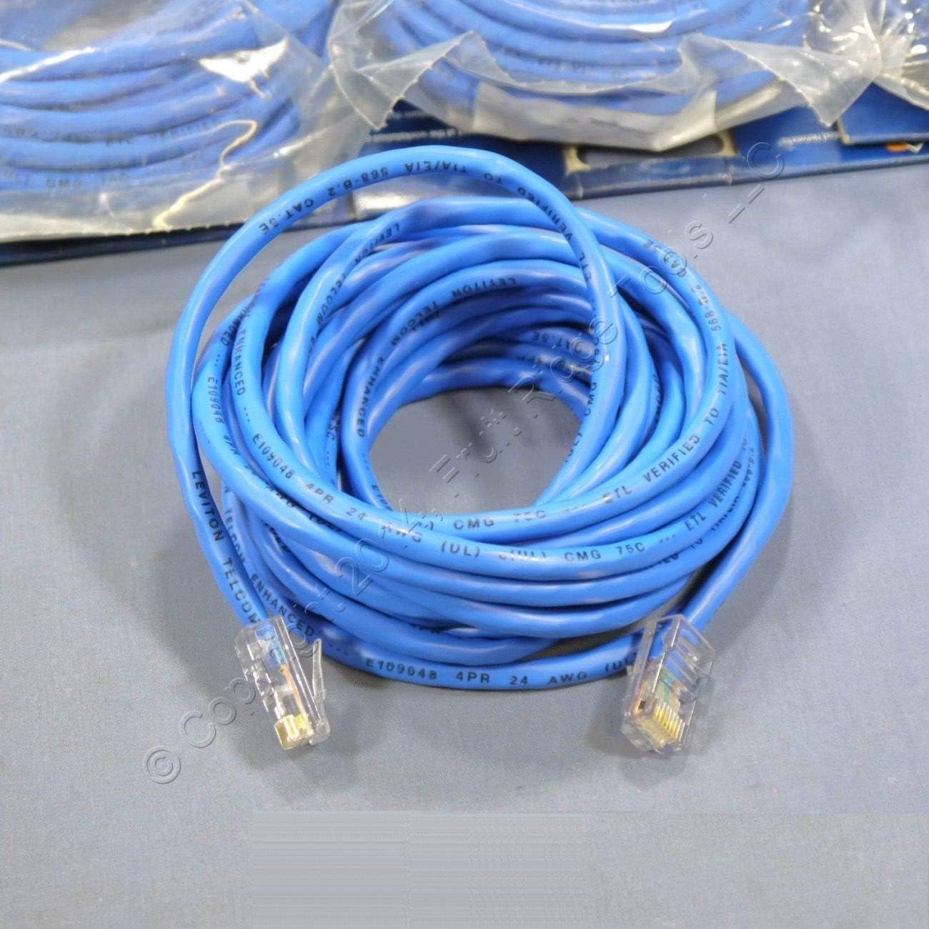 Ethernet LAN Patch Cord Network Cable Blue Leviton 52455-15B 15ft