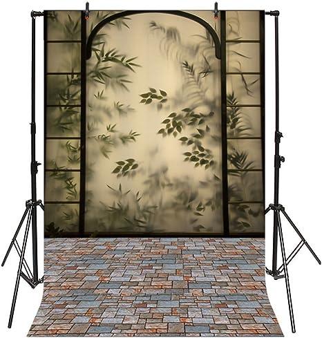 YongFoto 2,5x3m Vinilo Fondo de Fotografia Manchado Floral Ventana de Vidrio Piso de ladrillo Telón de Fondo Boda Adulto Retrato Personal Estudio Fotográfico Accesorios: Amazon.es: Electrónica