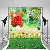 5x7ft Easter Backdrops Natural Scenery Spring Photography Studio Yellow Flowers Colorful Eggs Photo Background for Children Backdrop