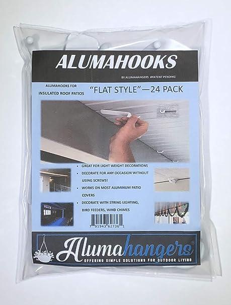Amazon Com Outdoor Lighting Hooks 24 Pack Flat Durable Plastic