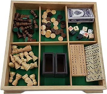 T209 Juegos de Mesa de madera maciza madera 7 en 1 V4: Amazon.es: Juguetes y juegos