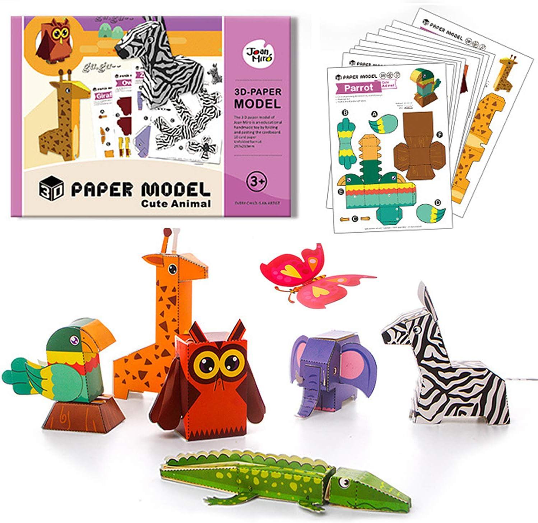 CHILDRENS KIDS LOCKDOWN CRAFT ACTIVITY TOY WOODEN 3D ANIMAL CONSTRUCTION KITS