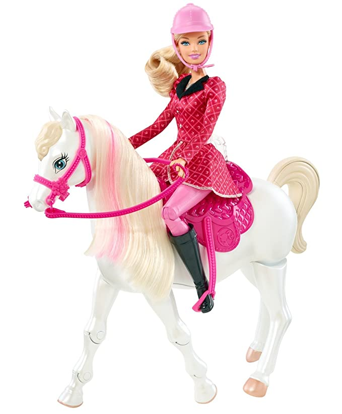 sports shoes hot sale pick up Barbie - Y6858 - Accessoire Poupée - Cheval Concours