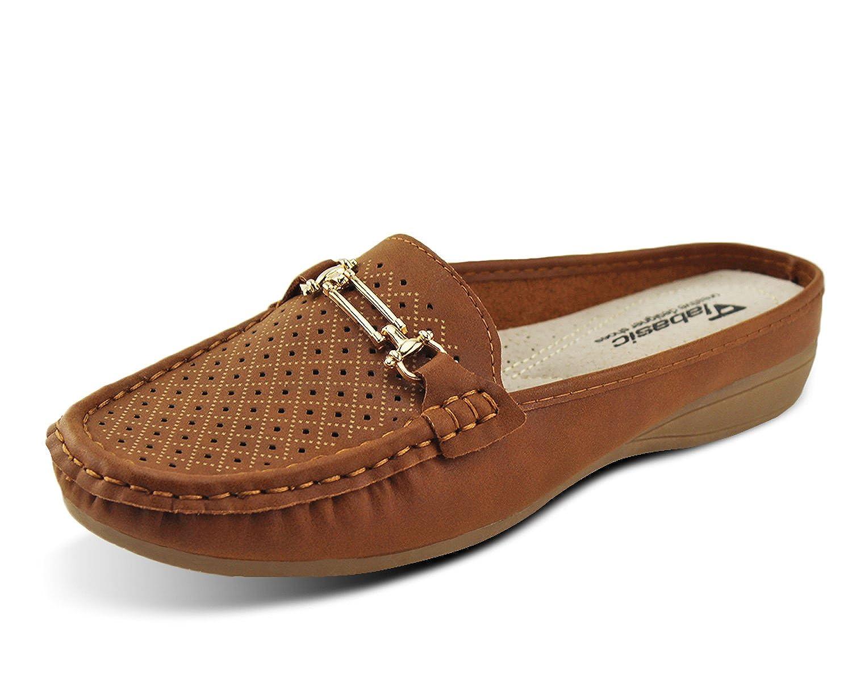 Penny Slip-On Backless Loafer Shoes