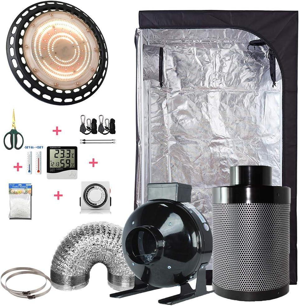 TopoLite 300W 600W 800W 1200W Full Spectrum LED Grow Light Multiple Size Grow Tent Dark Room Indoor Hydroponic System Kit LED 1800W, 60 X60 X80