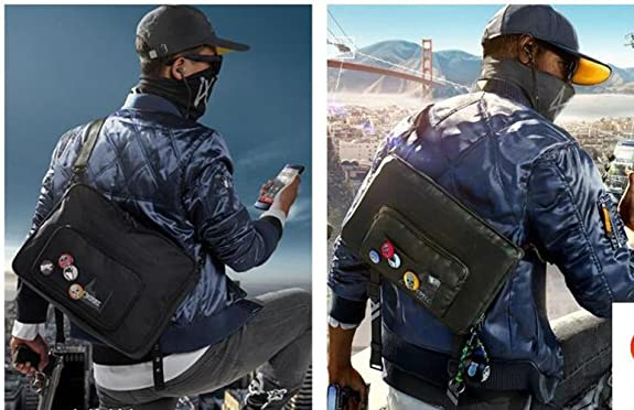 Amazon.com: Elegant Mens Cross Body Bags Watch Dogs 2 Marcus Holloway Messenger Backpack Shoulder Bags: Shoes