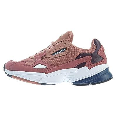 hot sale online 1a87b 43de3 adidas Falcon Womens in Raw Pink Dark Blue, 6