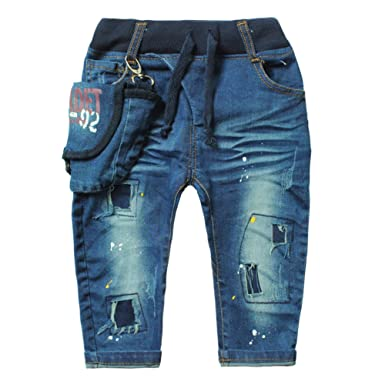 55b0c42f7d0 Amazon.com  eTree Little Boys  Baby Denim Jeans Special Pockets ...