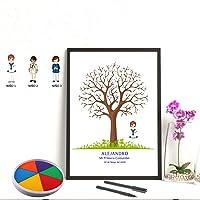 Cuadro de árbol de huellas con niño de comunión. Varios tamaños y colores de marco.Tintas e instrucciones incluidas…