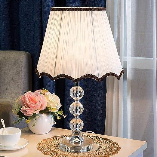 JINQD Home Lámpara de Mesa Bola de Cristal Lámpara de mesa-E27 ...