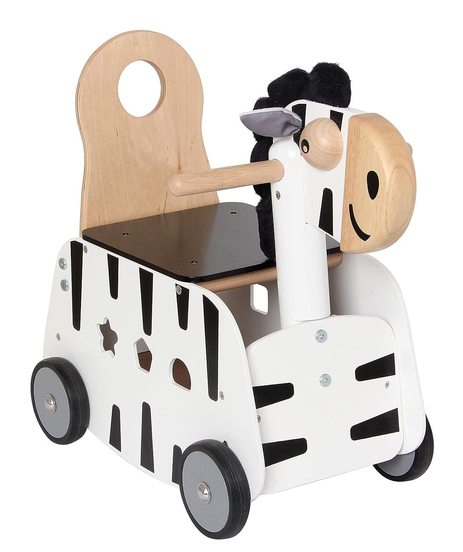 Im Toy Carro de Madera Cebra Correpasillos: Amazon.es: Juguetes y ...