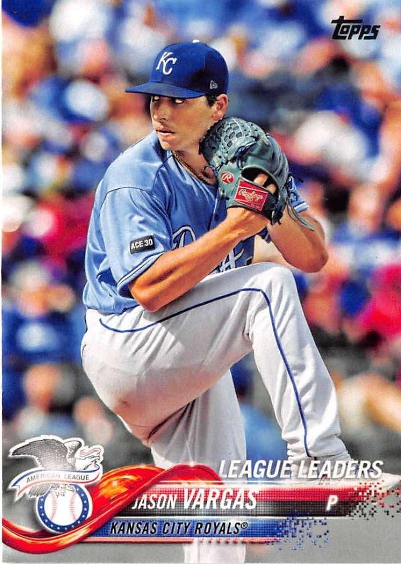 2018 Topps #327 Jason Vargas Kansas City Royals Baseball Card