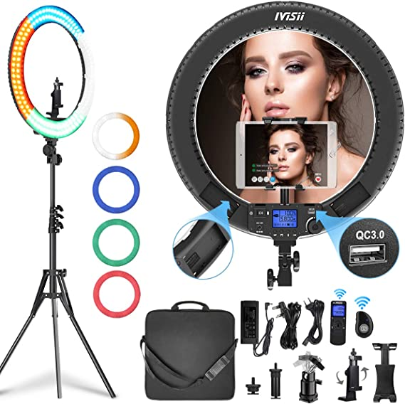 IVISII 19 Inch Ring Light With Remote Controller