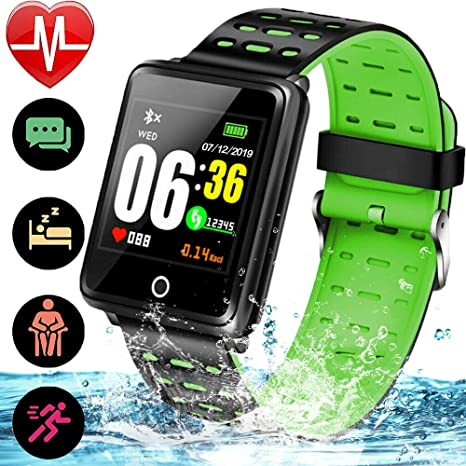 Fitness Tracker Smart Watch for Women Men iOS/Android with 1.44