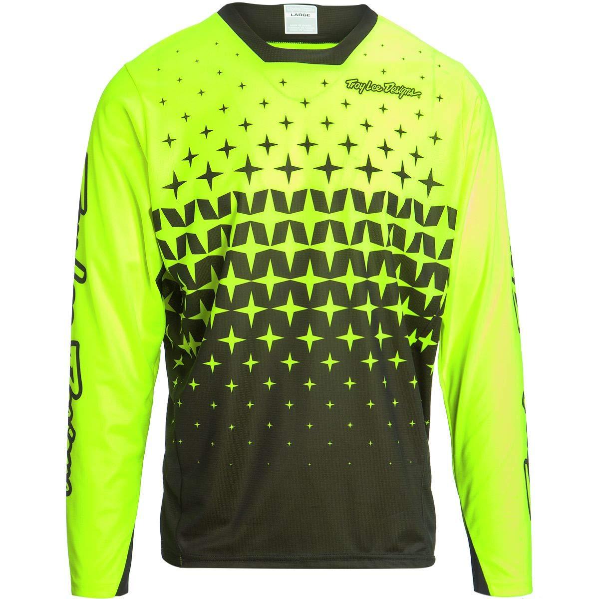 Troy Lee Designs Sprint Jersey - Men's Megaburst Flo Yellow/Black, S