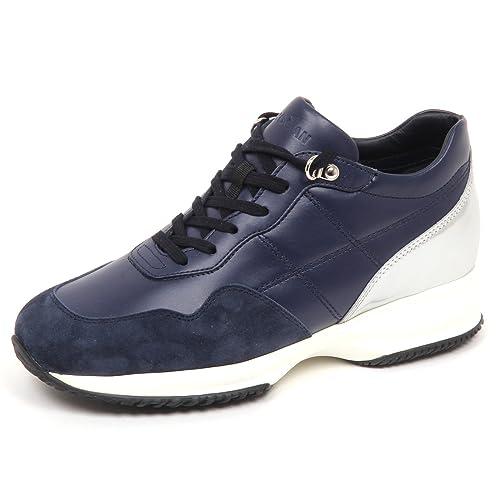 E4502 sneaker donna blu/silver HOGAN INTERACTIVE scarpe H cucitura shoe woman
