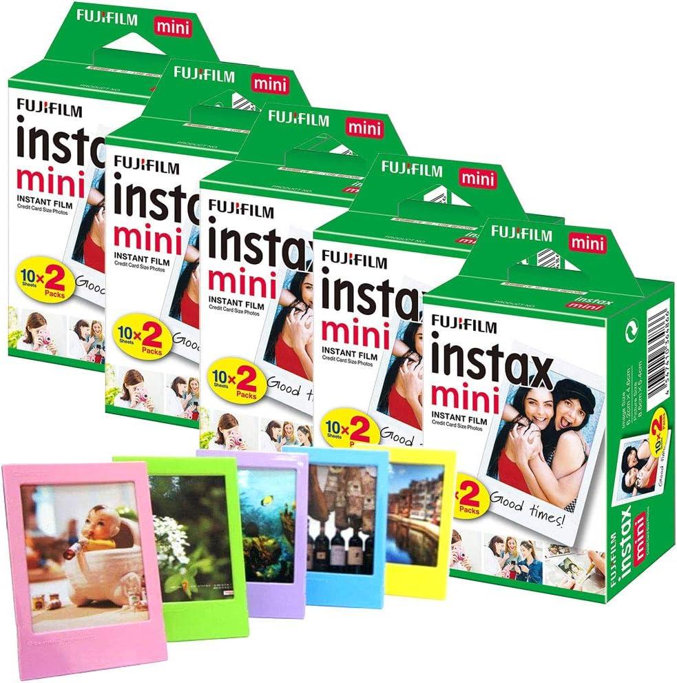 Fujifilm Instax Mini Film (100 Fotos) + 5 Marcos de Fotos: Amazon.es: Electrónica
