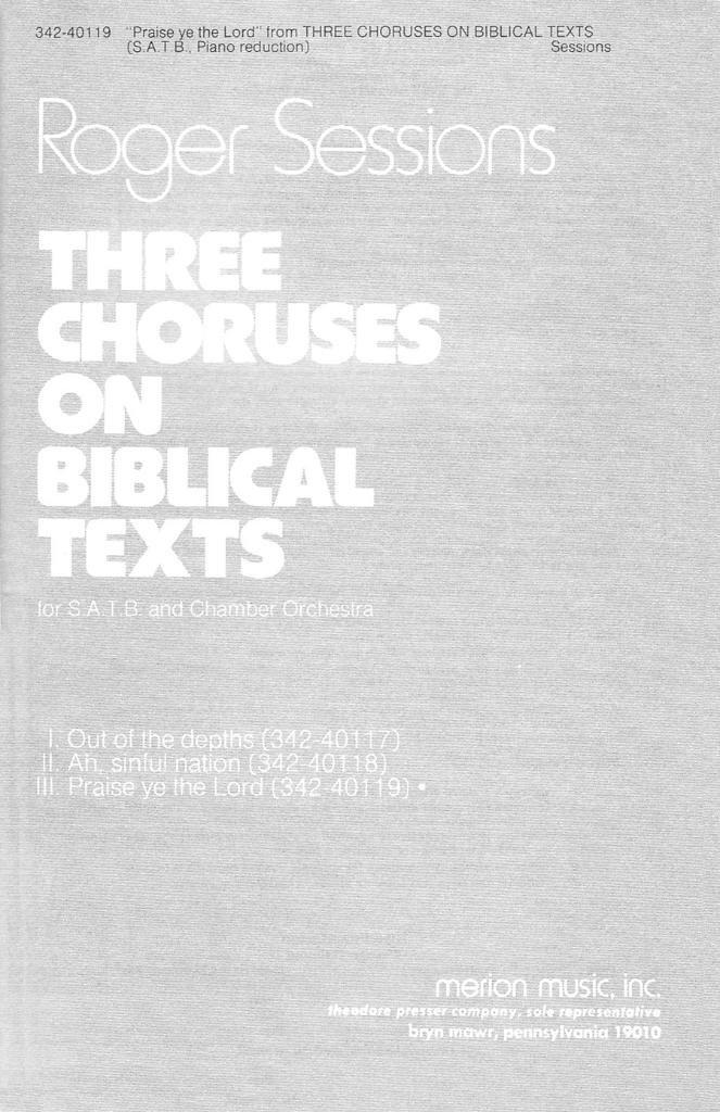 Download Praise Ye the Lord pdf epub