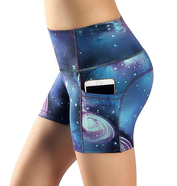 e2f8efdfcf58 Sugar Pocket Yoga Shorts Women s Basic High Waisted Side Pocket Short S