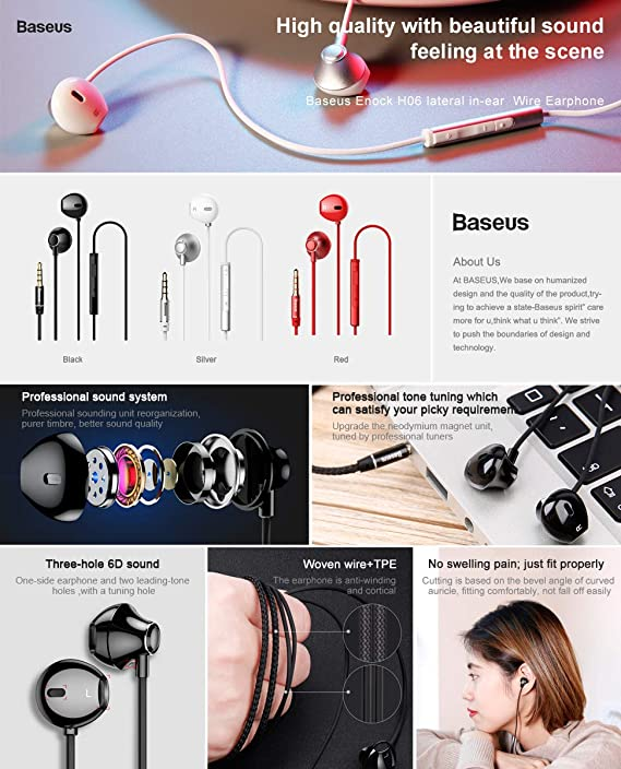 Amazon com: Gaurdeen lateral in-Ear Wire Earphone, Stereo