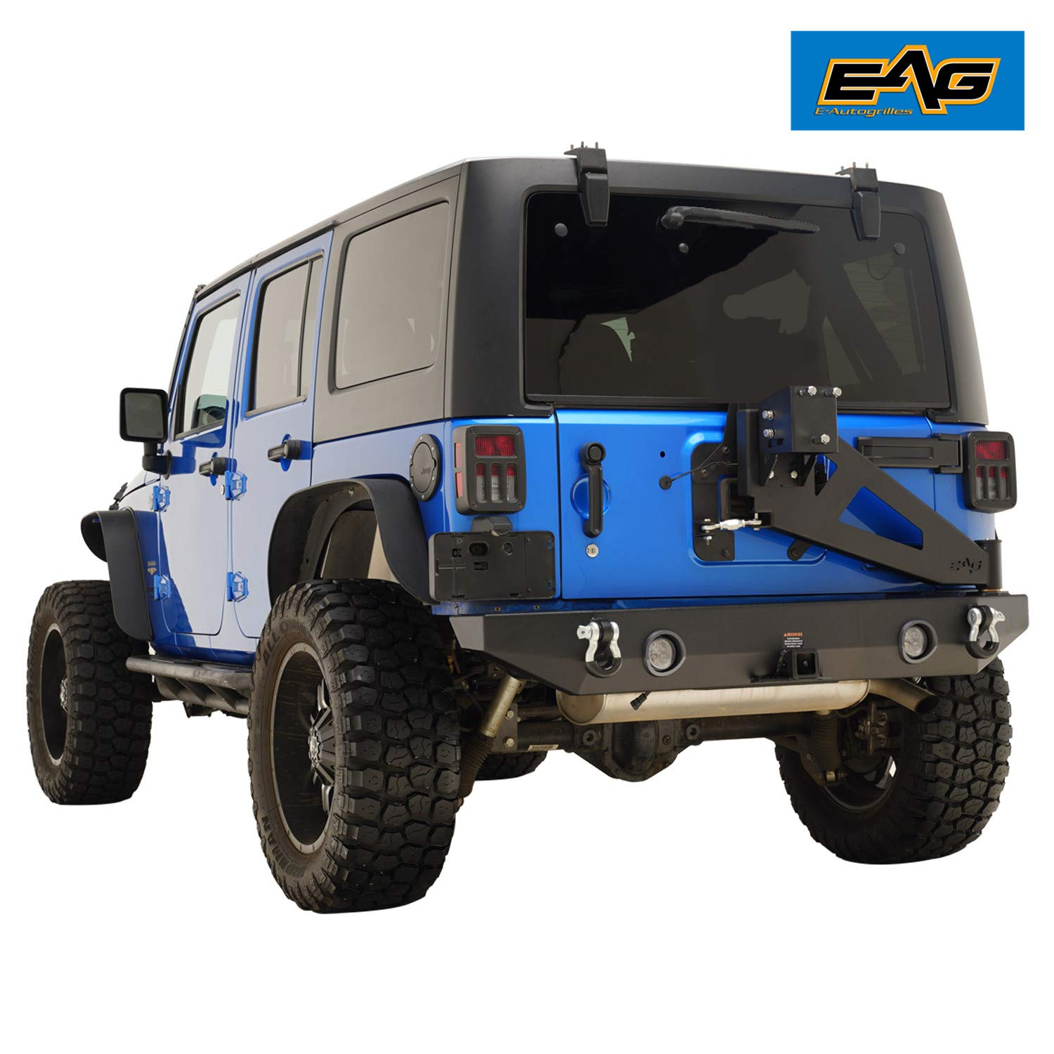 Exterior Accessories EAG Rear Bumper with Tire Carrier W/Linkage ...