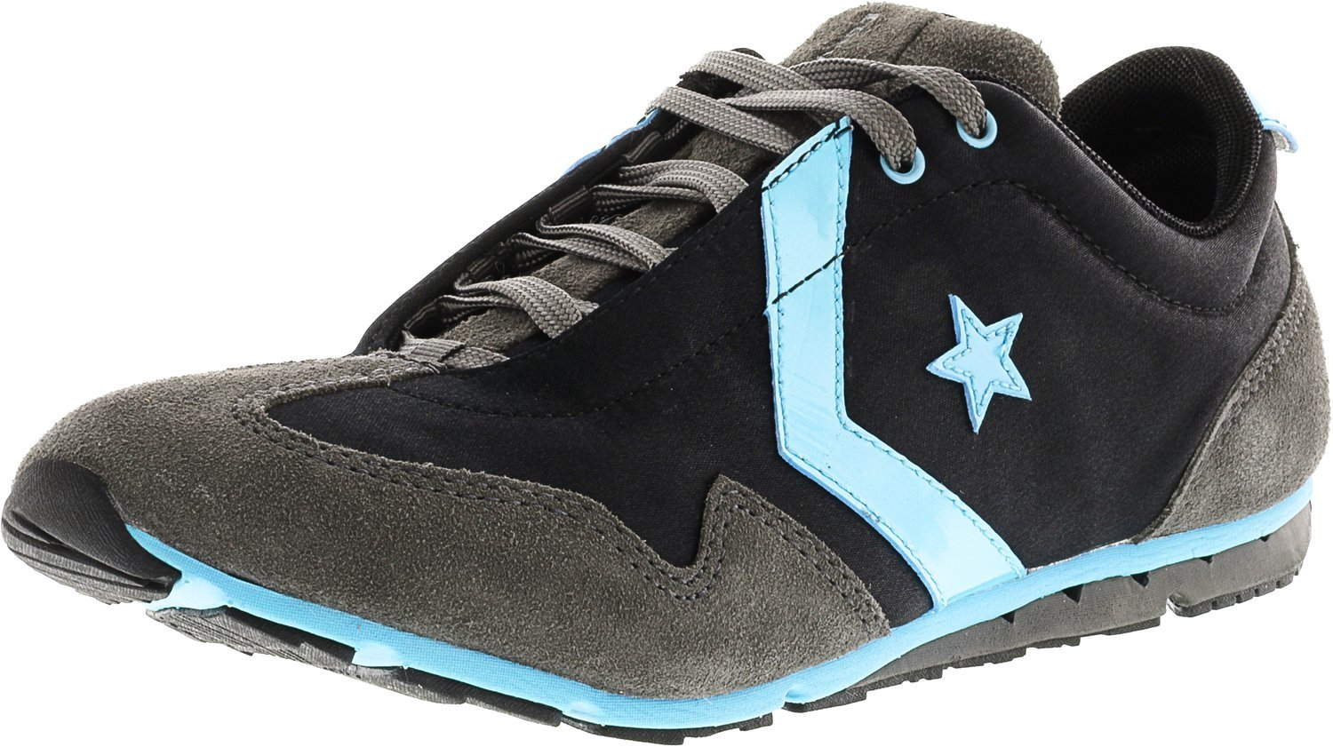 Converse Women's Revival Ox Casual Shoe Black, Gray, Turquoise (6.5)