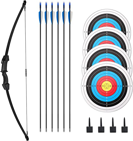 DAN DISCOUNTS Kids Emulational Bow and Arrow Set with Sound Cursor Target Children Outdoor Sports Toy Kit for Kids