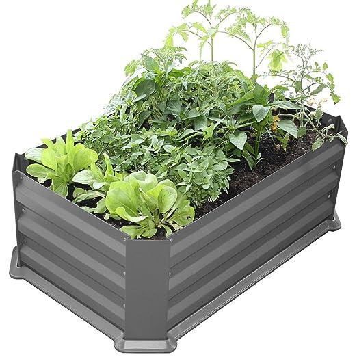 Bio Green Metal Bancal con Base de plástico Mainau, Antracita, 80 ...