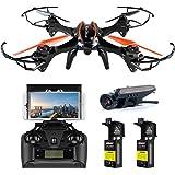 FPV Drohne mit Kamera Live übertragung DBPOWER UDI U842 Predator 720P HD Kamera Drone Quadrocopter mit kopflosen Modus Ffür Kinder und Anfänger Draußen Spielen