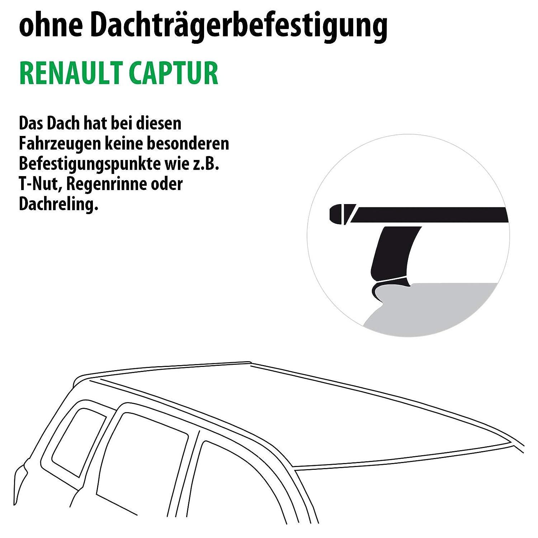 Dachtr/äger Tema f/ür Renault CAPTUR 138381-11232-1 Rameder Komplettsatz