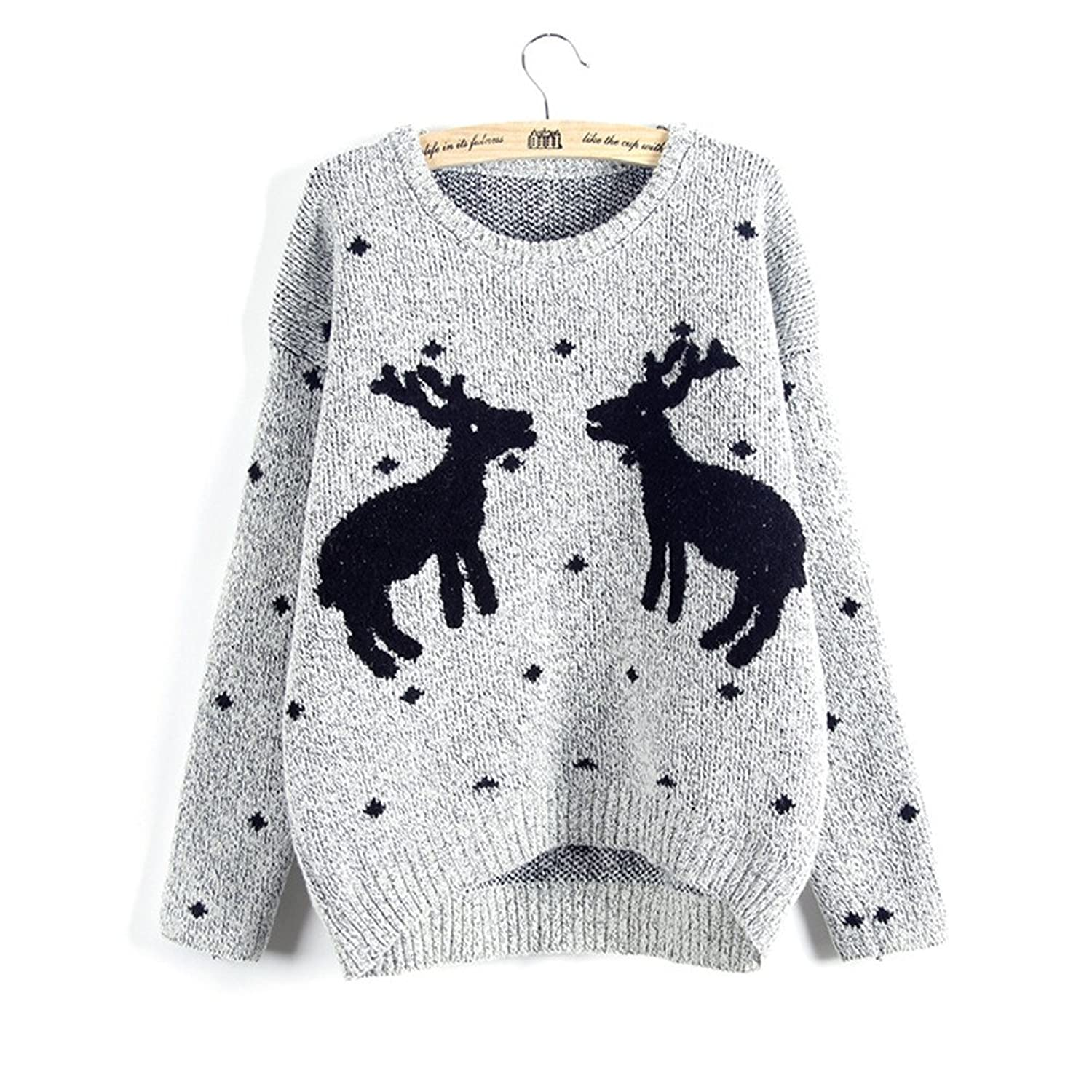 Huafeiwude Womens Christmas Sweaters Knit Pullover Girls Sweater