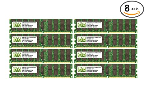 DDR3 PC3-10600R ECC Reg Server Memory RAM Dell PowerEdge T410 64GB 8x8GB