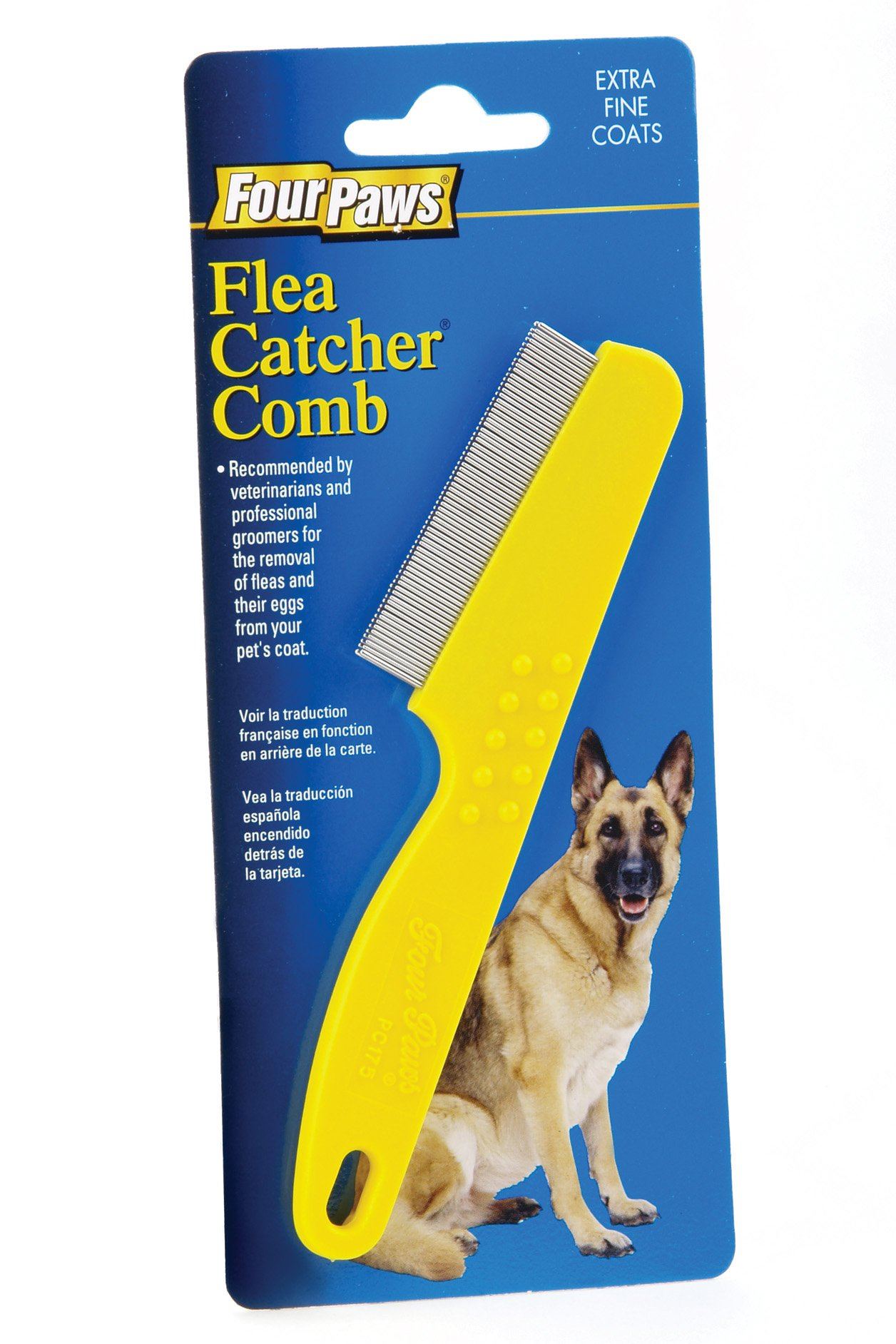 Four Paws Double Row Flea Catching Dog Comb