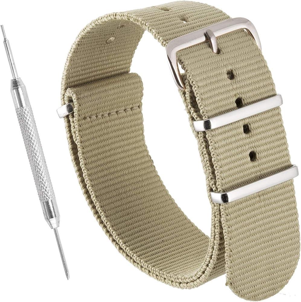 Correas de nylon para relojes NATO de Sniper Bay® Correas estilo militar Correas estilo buzo 18mm 20mm 22mm 24mm: Amazon.es: Relojes