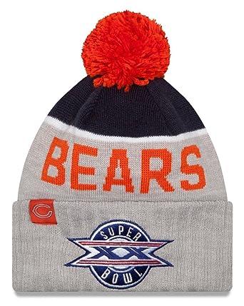 Chicago Bears New Era NFL Super Bowl XX Logo Gray Sport Knit Hat ... 660226b7cd37