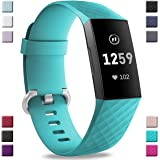 Hamile Bands Compatible With Fitbit Charge 3, Waterproof Replacement Watch Strap Fitness Sport Band Wristband for Fitbit Charge 3 and Charge 3 SE, Large Small Women Men, Multi Color