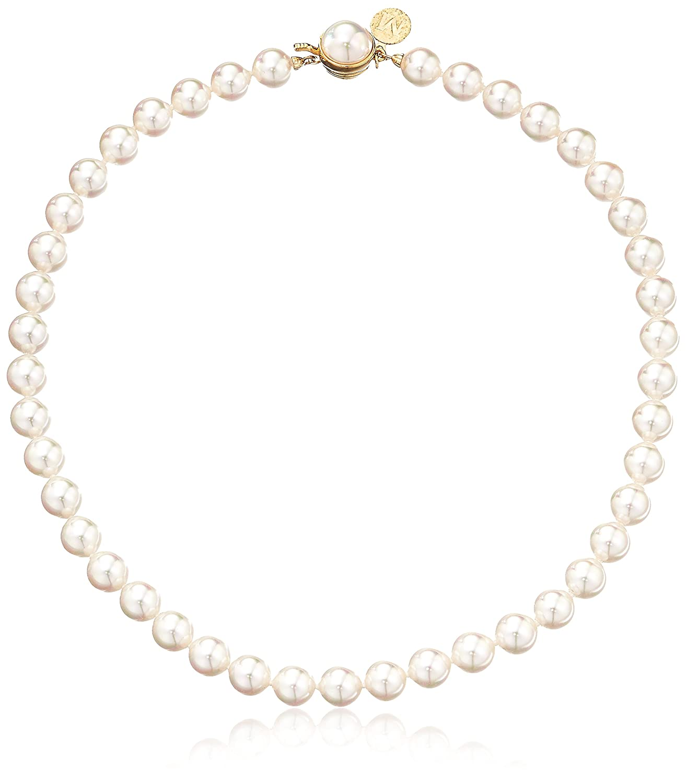 Amazon.com: Majorica 1 Row White 8mm Faux-Pearl Necklace, 16\