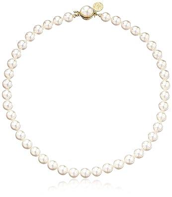 Amazon.com  Majorica 1 Row White 8mm Faux-Pearl Necklace c76dff7ff5