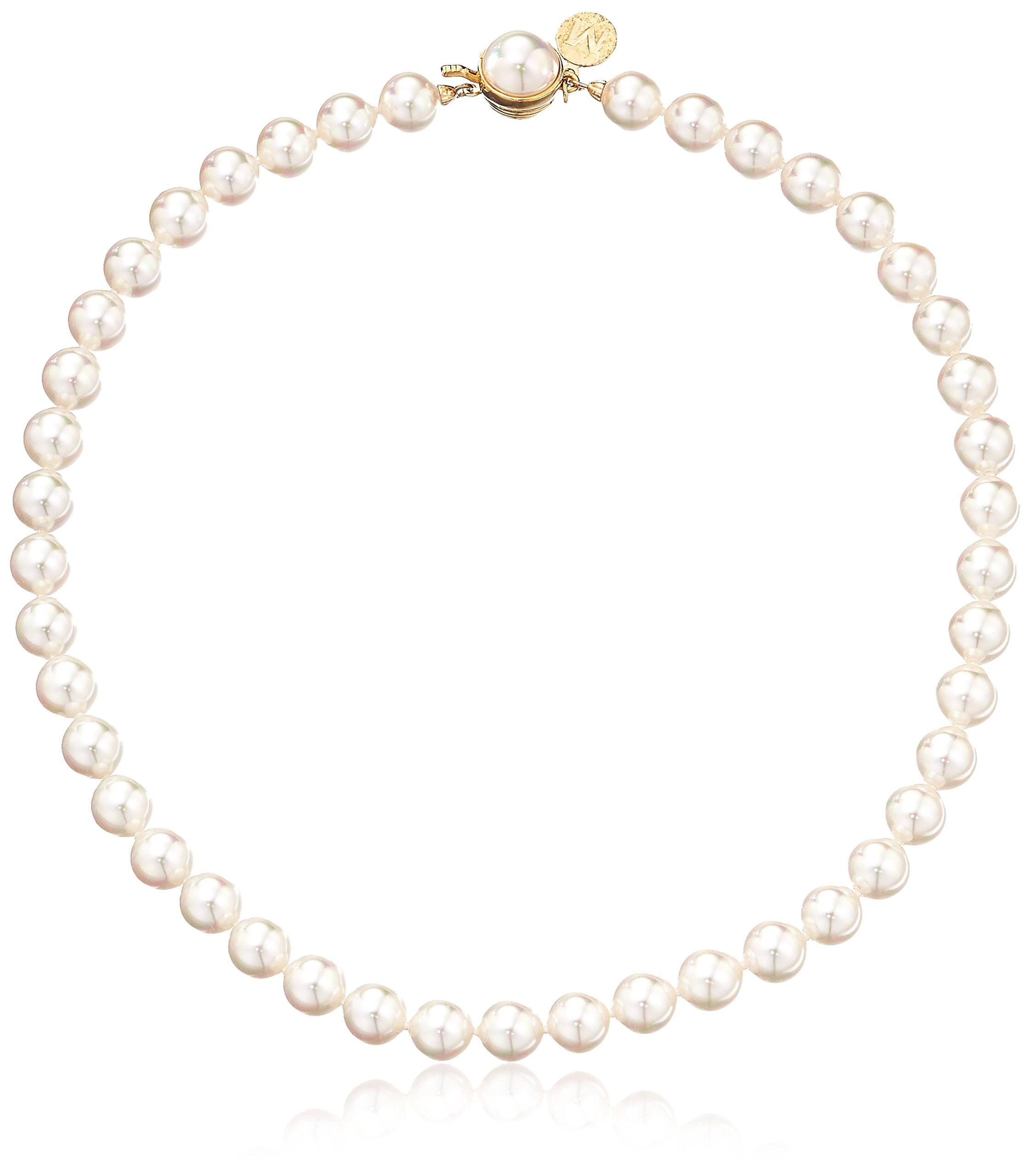 Majorica 1 Row White 8mm Faux-Pearl Necklace, 16''
