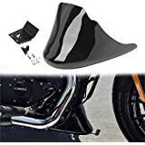 Amazicha Gloss Black Front Spoiler Chin Fairing for Harley Davidson Sportster Iron 883 2004-2018