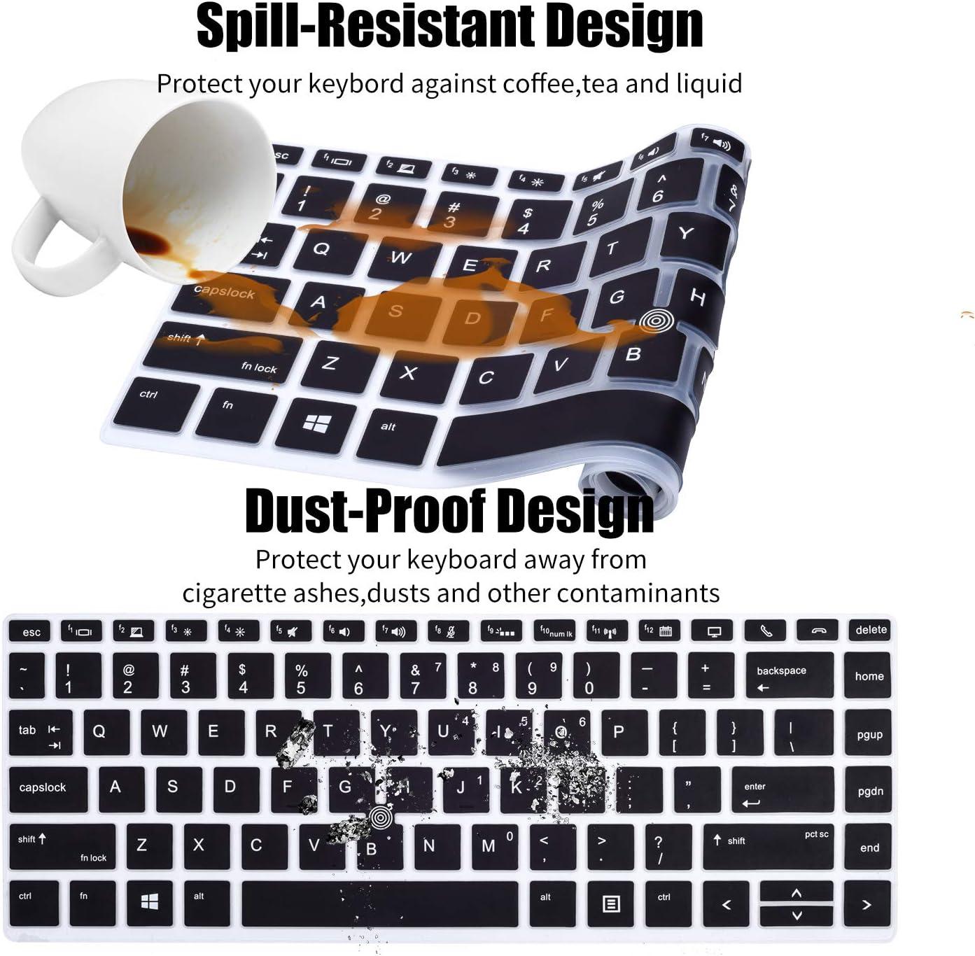 Keyboard Cover Skin Compatible HP Elitebook 840 G5 745 G6 14 inch//HP Zbook 14U G5 G6 14 Laptop 840 G6 14 inch//HP Elitebook 745 G5 Ombre Mint Green HP Elitebook Keyboard Cover 14 inch